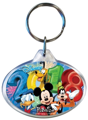 Picture of Disney 2018 Fireworks Fiesta Mickey Donald Goofy Pluto Keychain