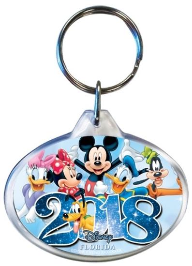 Picture of Disney 2018 Sixers Mickey Minnie Daisy Pluto Donald Goofy Keychain
