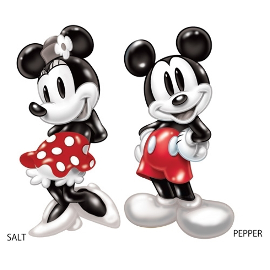 Usa Angel Disney Ceramic Salt And Pepper Shaker Shakers Classic Retro Mickey Minnie Mouse
