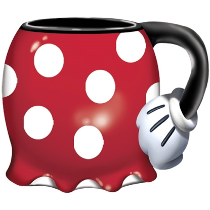Picture of Disney Minnie Mouse Classic Polka Dot Dress Espresso Mug