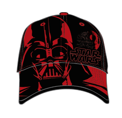 Picture of Disney Youth Baseball Hat Darth Vader Head, Black Red