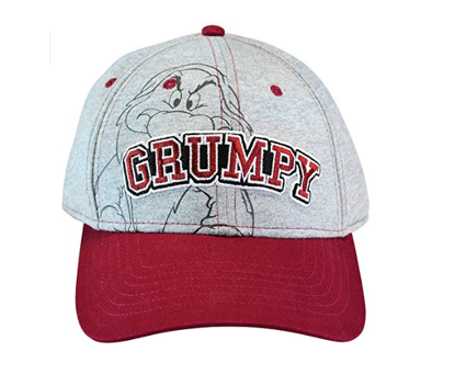 Picture of Disney Men's Hat Grumpy Baseball Cap Grumpier (Grey)