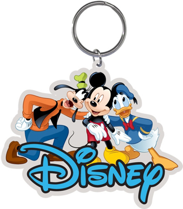 Picture of Disney 3 Amigos Goofy Mickey Mouse Donald Lasercut Keychain Keyring Key Chain