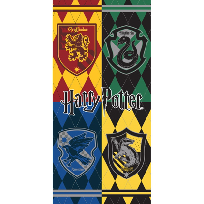 Picture of Disney Harry Potter Hogwarts Houses Crest, 28x58 Beach Towel (No Namedrop)