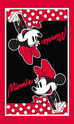 Picture of Disney Minnie Dotty Kitchen Towel Single, Red & Black