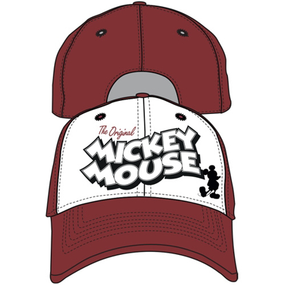 Picture of Disney Adult Vintage Mickey Mouse Baseball Hat, Red White