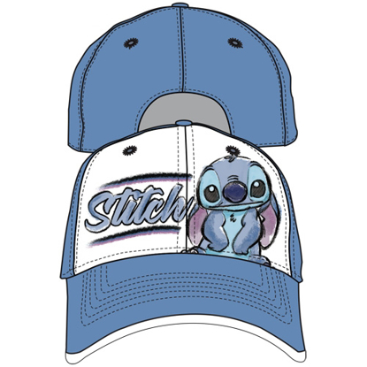 Picture of DISNEY Adult Sketchy Stitch Baseball Hat, Blue White