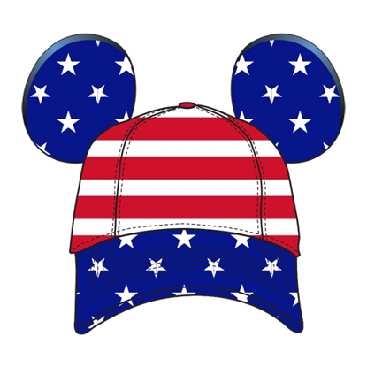 Picture of Disney Adult Disney USA Americana Ear Hat Mult hati