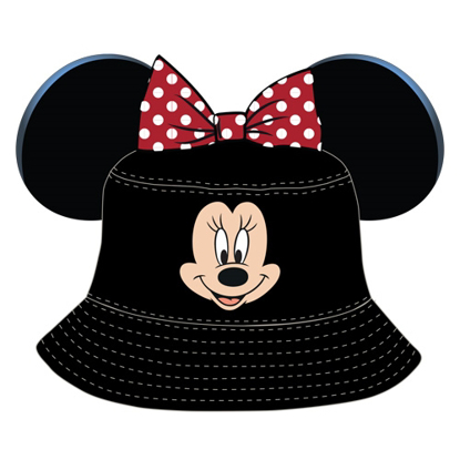 Picture of Disney Toddler Minnie Bucket Hat Black and red hat