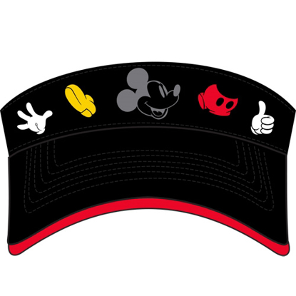 Picture of Disney Adult Mickey Parts Visor Black hat