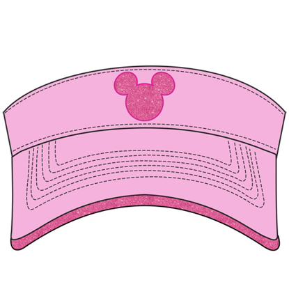 Picture of Disney Adult Mickey Shimmer  Pink Visor
