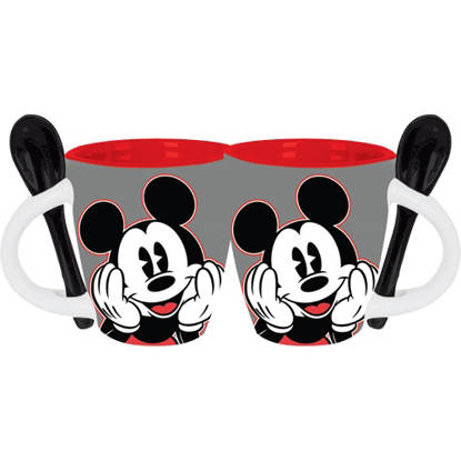 Picture of Disney Good Day Mickey Mouse 4oz Espresso Mug, Gray Black