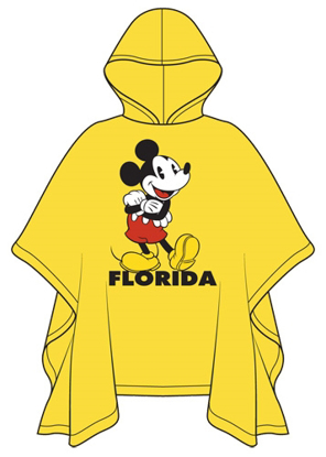 Picture of Disney Adult Hello Mickey Rain Poncho Florida Namedrop