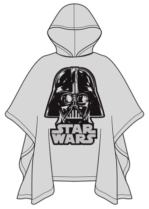 Picture of Disney Youth Poncho Raincoat Star Wars Darth Vader Clear