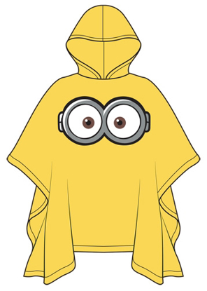 Picture of Disney Youth Poncho Raincoat One Eyed Minion Yellow