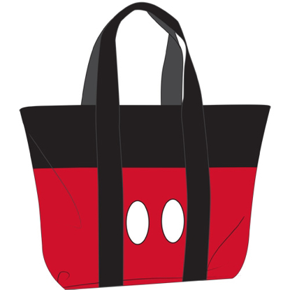 Picture of Disney Beach Tote Mickey Pants Black Red bag