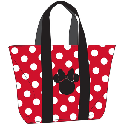 Picture of Disney Beach Tote Minnie Polka Dots Bow Red White bag