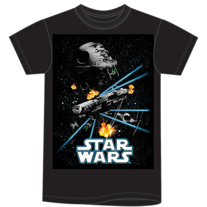 Picture of Disney Adult Men's T Shirt Star Wars Action Space Black  No Namedrop Allowed