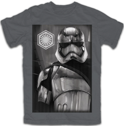 Picture of Disney Adult Star Wars Storm Trooper Tee Charcoal Gray T-Shirt