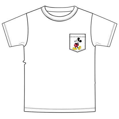 Picture of Disney Mens Pocket Classic Mickey White T-Shirt