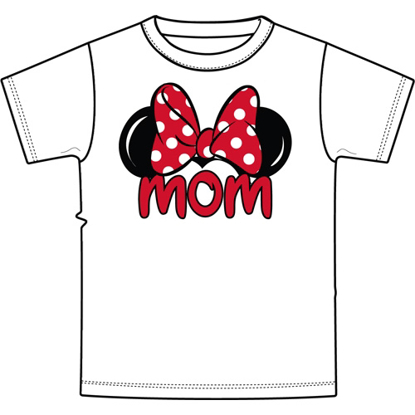 Picture of Disney Adult Women's Tee Shirt Mom Fan White T-Shirt