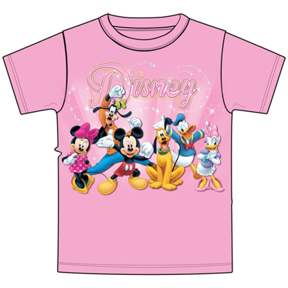 Picture of Disney Adult Women's T-Shirt Disney Sparkle Pink T-Shirt