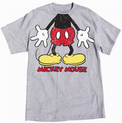 Picture of Disney Adult Unisex T Shirt Gotta Love Mouse Headless Gray Heather T-Shirt