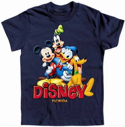 Picture of Disney Boys T Shirt Happy Mickey Trio Navy Florida Namedrop