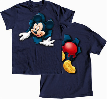 Picture of Disney Boys T-Shirt Pop Out Mickey Navy