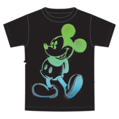 Picture of Disney Youth T-Shirt Painted Mickey Black