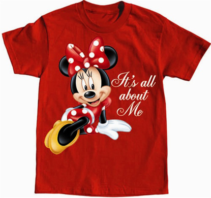 Picture of Disney Girls T-Shirt All About Me Minnie Red
