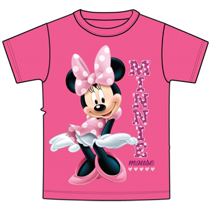 Picture of Disney Youth Girls T-Shirt Sassy Minnie Pink