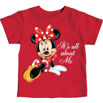 Picture of Disney Toddler Girls T Shirt All About Me Minnie Red
