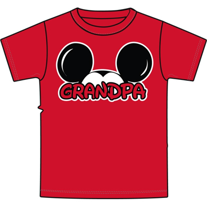 Picture of Disney Plus Size Mens T Shirt Grandpa Family Tee Red