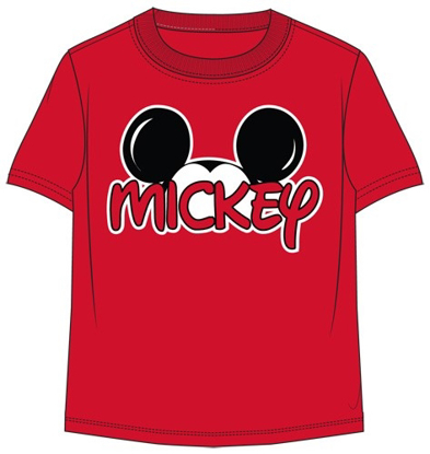 Picture of Disney Plus Size Mens Mickey Family Tee Red T Shirt