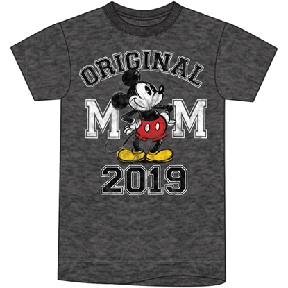 Picture of Disney Plus Size Unisex T Shirt 2019 Dated Original Mickey Black Heather