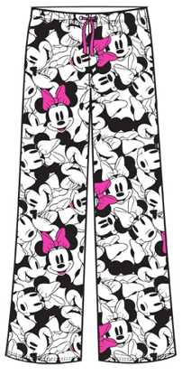 Picture of Disney Adult Pant So Minnie Faces White Pink