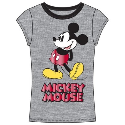 Picture of Disney Junior Fashion Top Call Me Mickey Gray Red