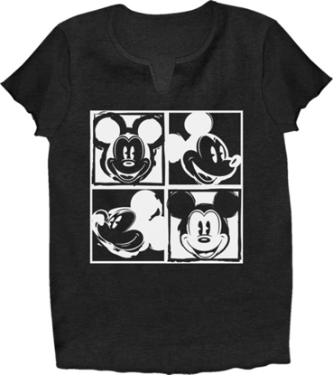 Picture of Disney Adult V-Neck Shirt Mickey Warhol Black