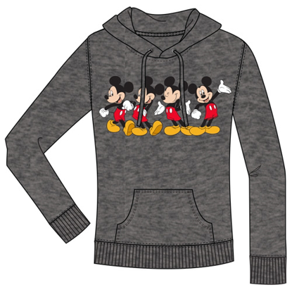 Picture of Disney Junior Mickey Happy Pullover Hoodie Charcoal Gray