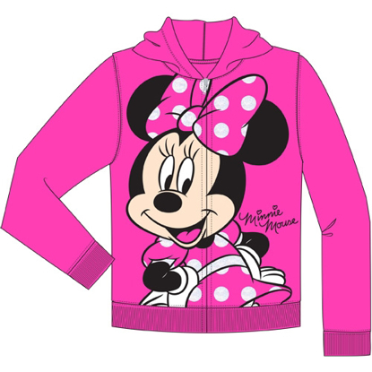 Picture of Disney Toddler So Happy Minnie Zip Up Hoodie Fuschia Pink