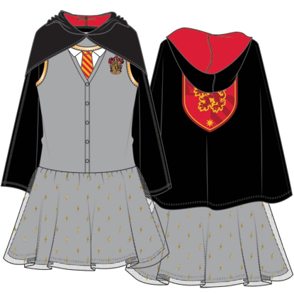 Picture of DISNEY Youth Girls Trompe Harry Potter Gryff Tutu Dress Gray