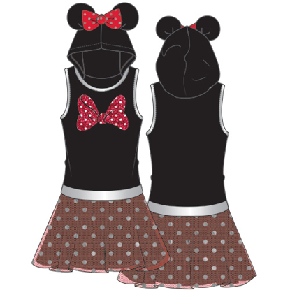 Picture of Disney Youth Girls Jumbo Big Bow Minnie Tutu Dress Red