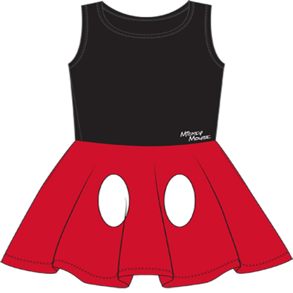 Picture of Disney Youth Girls Tank Dress Cosplay Mickey Mouse Pants Black Red