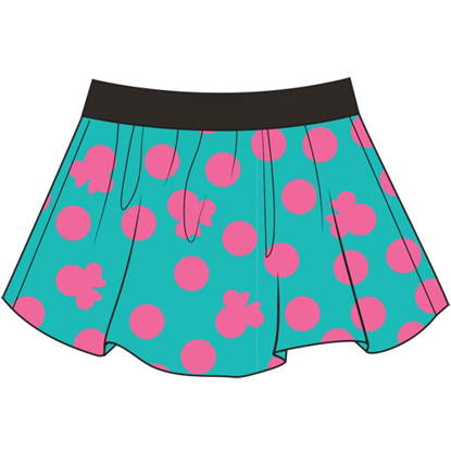 Picture of Disney Youth Girls Skort Skirt/Short Girly Minnie Print Teal Pink