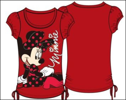 Picture of Disney Youth Girls Fashion Top Side Tie On the Ground Minnie Red