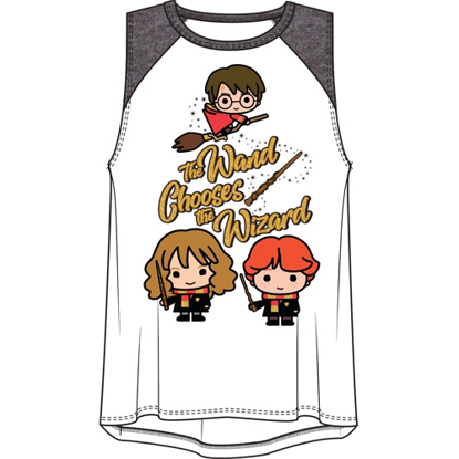 Picture of Disney Youth Girls Raglan Tank Top Harry Potter Wand Multi-Colored