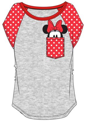 Picture of Disney Youth Minnie Peeking Pocket T-shirt Gray