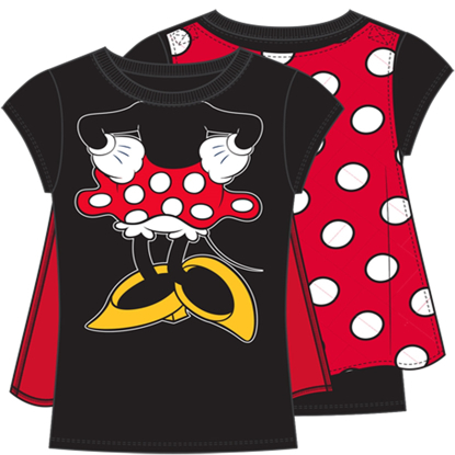 Picture of Disney Youth Girls Minnie Mouse Cape Tee Black Red