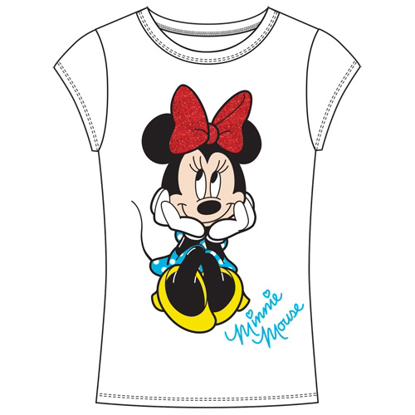 Picture of Youth Girls Fashion Top It's Minnie White